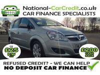 Vauxhall Zafira 1.7CDTI 16V ECOFLEX ELITE Good / Bad Credit Car Finance (silver) 2010