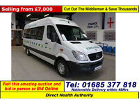2009 MERCEDES SPRINTER 315 2.2CDI AUTO WILKER BODY LWB DISABLED ACCESS PTS BUS