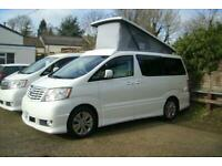 TOYOTA ALPHARD CAMPER VAN,MOTORHOME, 4 BERTH~NEW POPTOP ROOF~SIDE KITCHEN~