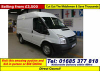 2008 - 58 - FORD TRANSIT T330 2.2TDCI 140PS FWD SWB HIGH-TOP VAN (GUIDE PRICE)