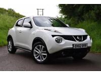 Nissan Juke 1.5dCi (110ps) Tekna White Navigation, Leather, 40k, £196 per month