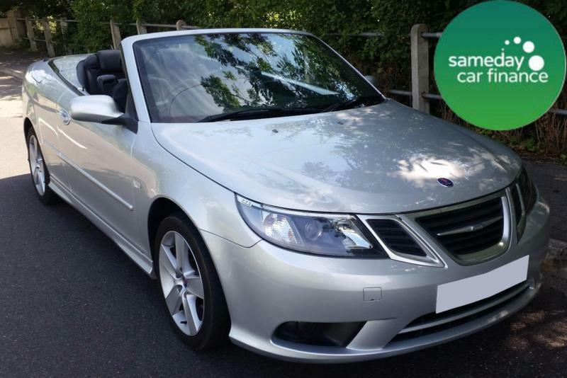 £155.10 PER MONTH SILVER 2011 SAAB 93 2.0 LINEAR TURBO CONVERTIBLE PETROL MANUAL