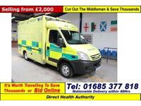 2008 - 58 - IVECO DAILY 50C18 3.0 WILKER BODY AMBULANCE / CAMPER