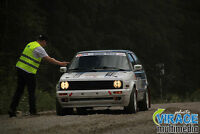1992 Volkswagen Golf rally Mk2, lapping, track, course sur glace