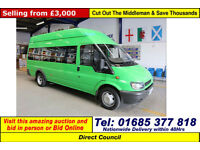 2004 FORD TRANSIT T350 2.4TD 125PS 13 SEAT MINIBUS C/W WHEELCHAIR ACCESS RAMP