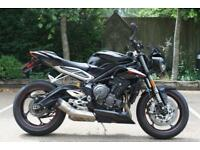 "TRIUMPH STREET TRIPLE 765 ""RS"" PHANTOM BLACK TRIUMPH STREET TRIPLE RS 765CC 17MY"