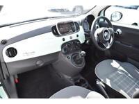 2017 Fiat 500 1.2 Lounge (s/s) 3dr Petrol green Manual