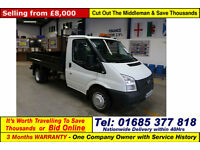 2013 - 63 - FORD TRANSIT T350 2.2TDCI 100PS RWD SINGLE CAB TIPPER (GUIDE PRICE)