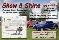 SAVE THE DATE - Show & Shine - 15 Aug 2015