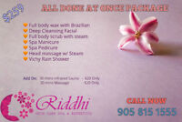 Waxing,Facial,Body Scrub-wrap,Threading,Mani-Pedi,Facial,Sauna