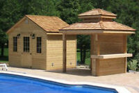Pool side Cabanas and Hot Tub Enclosures