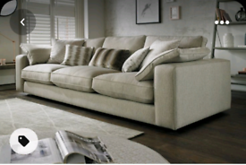 Sofa and Pouffe by Sofology.