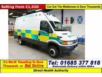 2001 - Y - IVECO DAILY UNIJET 6.5TON 4X2 LWB HIGH TOP VAN (GUIDE PRICE)
