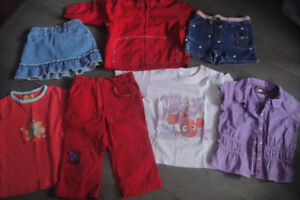 20 pieces of girls clothing Brand name 3-4 years,