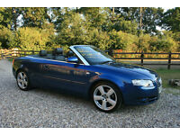 2007 AUDI A4 2.0TFSI S LINE MANUAL 2DR CONVERTIBLE COUPE WARRANTIED LOW MILEAGE