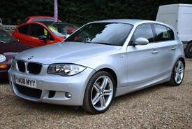 """BMW 120 2.0 AUTO M-SPORT, 5 DOOR, FULL LEATHER, 18"""" ALLOYS, 77000 MILES ONLY"""