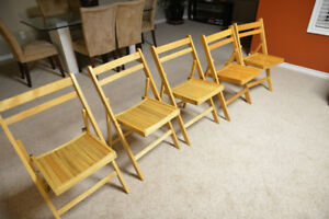 wooden fold chairs