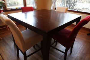 Dining Table & Chairs Set of 6, Hardwood