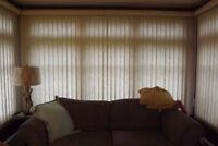 FREE WINDOW TREATMENTS-EACH THREE VERTICALS FREE