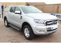 2016 FORD RANGER TDCI 160 LIMITED 4X4 DOUBLE CAB WITH TRUCKMAN TOP PICK UP DIESE
