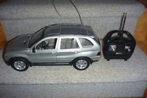 radio controlled  BMW model car and transmitter