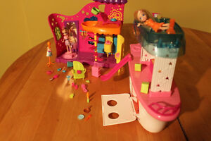 Polly Pocket Party Boat Adventure / Playhouse Playsets