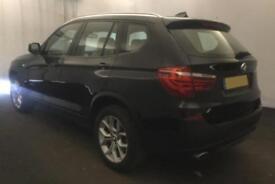 2014 BLACK BMW X3 2.0 XDRIVE20D SE DIESEL AUTO ESTATE CAR FINANCE FR £67 PW
