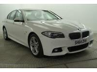 2014 BMW 5 Series 520D M SPORT Diesel white Automatic