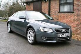 2009 AUDI A5 2.0 T FSI SPORT COUPE AUTOMATIC. 44,000 MILES FULL SERVICE HISTORY.