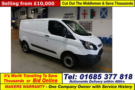 2015 - 15 - FORD TRANSIT CUSTOM ECO-TECH 2.2TDCI SWB VAN (GUIDE PRICE)