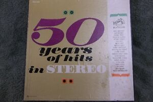 50 Years Of Hits Stereo Record Album