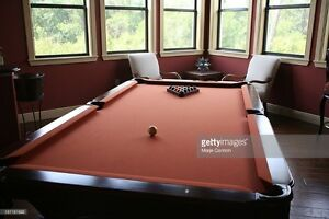 Pool table set ups / dismantles /moves. Re-cloth table or rails
