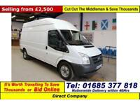2009 - 09 - FORD TRANSIT T350 2.4TDCI 115PS RWD LWB HI TOP VAN (GUIDE PRICE)
