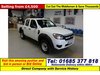 2010 - 10 - FORD RANGER XL 2.5TDCI 5 SEAT DOUBLE CAB 4X4 PICKUP (GUIDE PRICE)