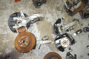 JDM Acura RL Front Spindles Hubs Bearings Knuckle 2005-2008 KB1