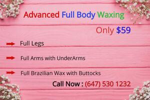 Body Waxing,Facial,Head/hot stone massage.Body Bleach/Scrub/Wrap