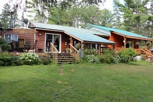 4 Season Home or Cottage on Picanoc River, Quebec.