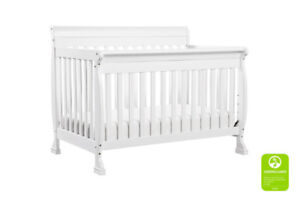 Solid Wood Convertible Baby Crib - White