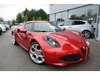 2017 Alfa Romeo 4C 1.8 TBi TCT 2dr Petrol red Semi Auto