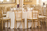 Party Rentals! Centerpieces, chiavari Chairs GOLD OR CLEAR $3.50