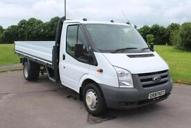 Ford Transit 350 LWB DROPSIDE TRUCK Low mileage 61 reg Diesel With Air/Con