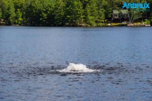 Arbrux 1/2 HP Floating Pond Aerator