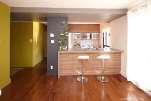 Appartement style condo à louer, rénové, moderne à Rosemont