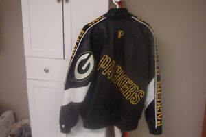 Green Bay Packers Mens Leather Jacket