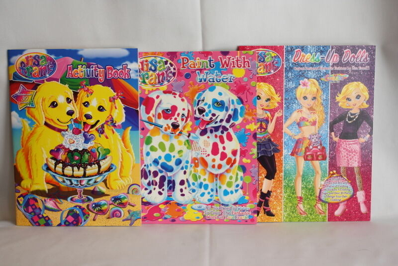 Lisa Frank Paint with Water Book & Paper Dolls Coloring Activity Books Lot of 3