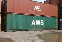 used 20' and 40' sea shipping containers