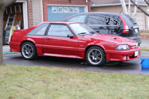 1987 Ford Mustang GT 5spd Auburn Red.