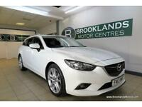 Mazda 6 2.2 TOURER SPORT 175PS [2X SERVICES, SAT NAV, LEATHER, HEATED SEATS, REV