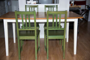 IKEA Kitchen Table and 4 Wooden Chairs