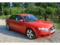 2007 (57) Audi A4 2.0TDI S LINE 4 DOOR SALOON WARRANTIED LOW MILEAGE FSH